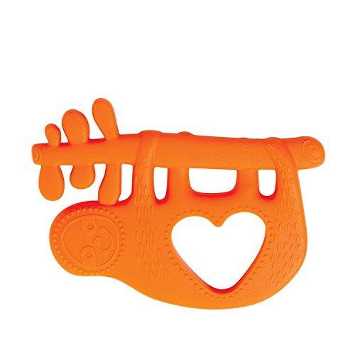 Anneau de Dentition en Silicone Paresseux en Forme de Jouet Animal de Manhattan, Orange