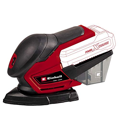Einhell Multiple Sander TE-OS 18/150 Li - Solo Power X-Change (18 V, 24000 Min^-1 Oscillat. Speed, Dust Box, Incl. Six Sheets of Abrasive Paper, Vacuum Cleaner Adapter, Without Battery and Charger)