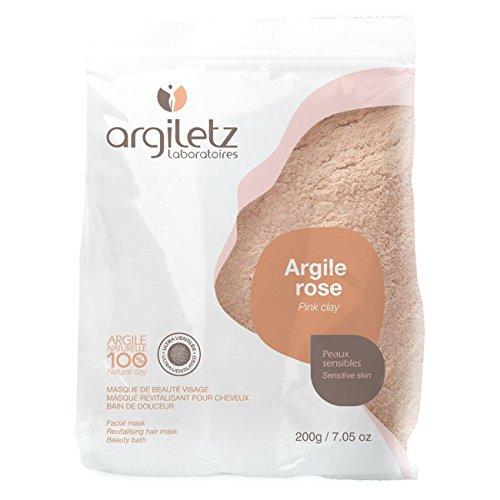 ARGILETZ - Masque & bain à l argile rose 200 g - Masque visage et cheveux et pour le bain - Peaux sensibles - Couleur Transparent Rose
