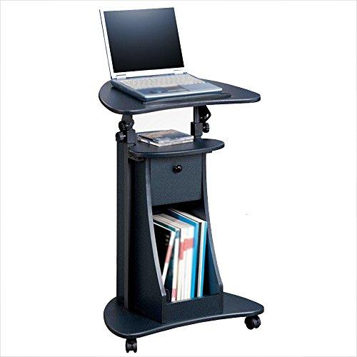 Zaixi Bureau Mobile réglable en Hauteur Table de Travail Verticale Bureau d'ordinateur détachable Forte capacité portante (Couleur : Wood)