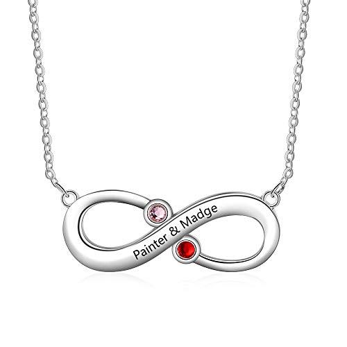 XiXi Unendlichkeitszeichen Kette Personalisiert Freundschaftskette für 2 Unendlich Halskette Damen Unendlichkeit Kette mit Name Personalisierter Schmuck