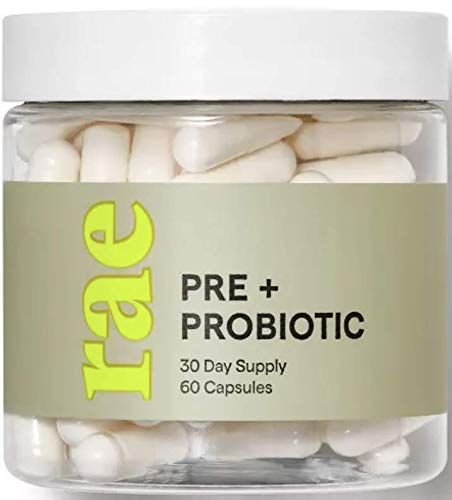 Rae Pre + Probiotic Dietary Supplement 60 Capsules. Apple Cider Vinegar and Acidophilus. Helps Support a Healthy Immune System, Heart, Brain and Skin. Vegan and Gluten-Free and Non-GMO