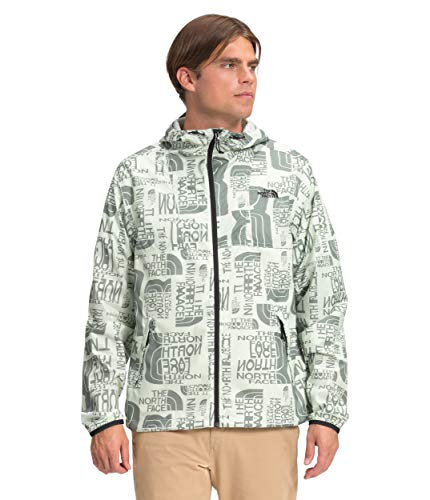 The North Face Men's Cyclone Jacket, Green Mist Distorted Logo Print, M