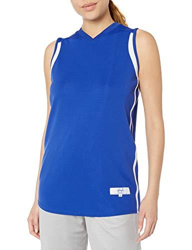 Intensity Damen Basketballtrikot mit Flacher Rückseite, Netzgewebe Small Royal/Weiß