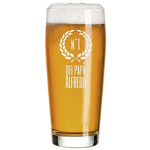 Angolo del Regalo Bicchiere da Birra di papà Personalizzato - Numero Uno