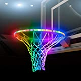 ThinkTop Waterproof LED Basketball Hoop Light, Basketball Rim LED Sensor Light, for Kids Adults Parties and Training at Night Outdoors Sports