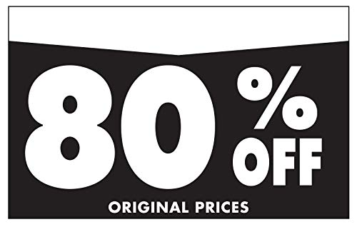 """Adlife Office Retail Store Signs � Card Stock Product Display Signs - Retail Sale Signs/Retail Tags - 'Percentage Off' Retail Signs - 5.5"""" x 3.5"""" Retail Display Signs - 100 Sign Pack Photo #6"""