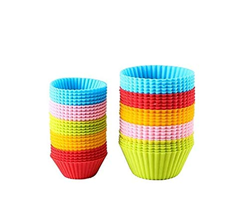 Hoocozi Reusable Silicone Baking Cups Silicone Cupcake Liners Cupcake Holders Pastry Muffin Molds 40 Pack