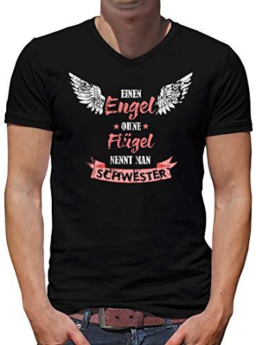 Camiseta de manga corta para hombre, diseño de ángel sin alas con cuello en V