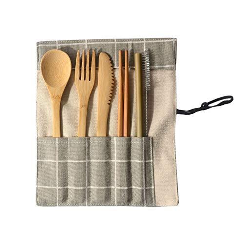 hink portable bamboo cutlery travel
