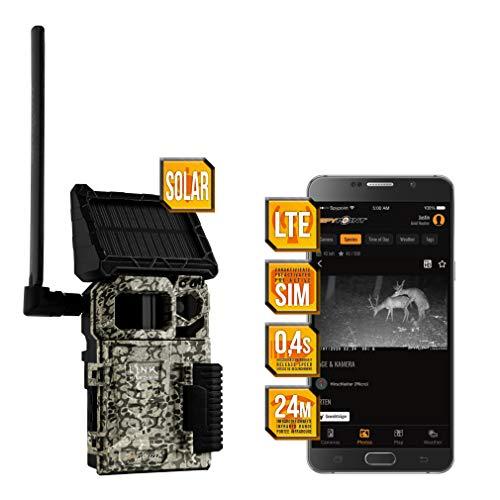 Spypoint LINK-Micro-S LTE Wildkamera/Tierkamera mit eingebautem Solar-Panel und SIM-Karte für Smartphone Übertragung, Wildtierkamera mit Infrarot, 4 LEDs, 10 Megapixel