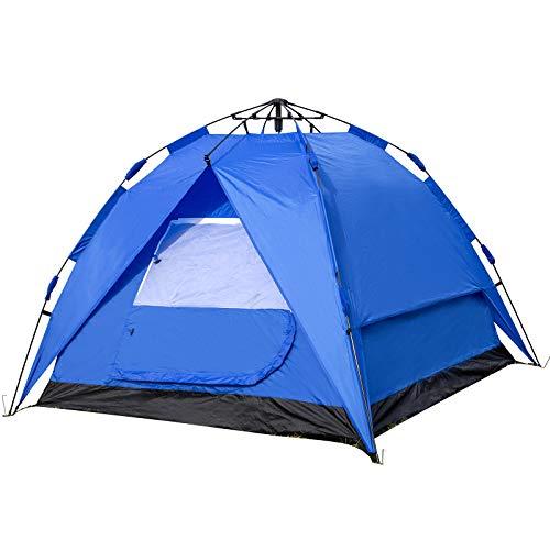 EUGAD Camping Zelt 2-3 Personen Sekundenzelt Schnellaufbau mit Quick-Up-System Kuppelzelte wasserfest mit Tragetasche 180x200x150cm Blau