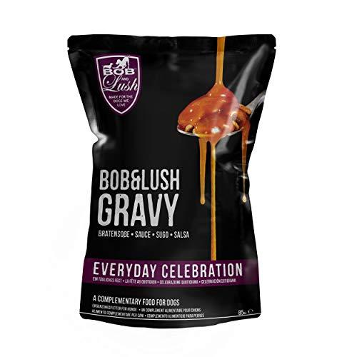 Bob & Lush Bratensoße im Beutel, Ergänzung zur Hundemahlzeit, geschmackvolle Soße für Nass- oder Trockenfutter (7 Beutel)