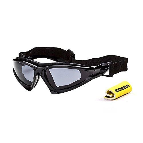 Ocean Sunglasses Cabarete - Gafas de Sol polarizadas - Montura : Negro Brillante - Lentes : Ahumadas (12000.0)