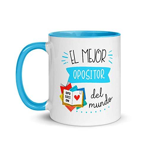 Kembilove Tazas de Café Personalizadas de Profesiones – Taza de Desayuno Aquí Bebe un Gran Opositor con Nombre Personalizado – Tazas de Desayuno para Profesionales – Taza de 350 ml