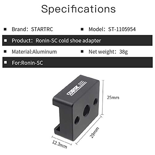 Jiad Kde Cold Shoe Adapter 1/4 Screw Handle Gimbal Mounting Plate for DJI Ronin-Sc DJI Cold-Shoe Expand Board External Mounting Base