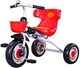 zeyujie Triciclo for niños Plegables, Radio Flyer Triciclo Balance Bicicleta Toy Tricycle Walker Dibujos Plegables Asiento cómodo con Respaldo, Adecuado for niños de 1 a 6 (Color: Rojo)