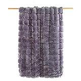 Textiles Mora Plaid Imitación Piel Kibo – 130X170Cm – Gris - Sofás, unisex
