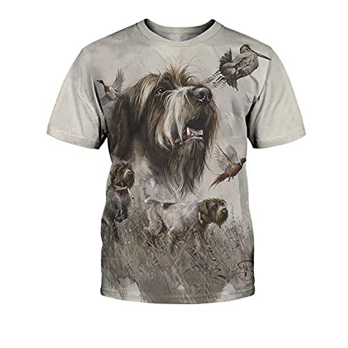 SSBZYES Camiseta para Hombre Camiseta De Verano con Cuello Redondo para Hombre Camiseta De Manga Corta para Hombre Camiseta De Gran Tamaño para Hombre Camiseta con Estampado De Perro Camiseta