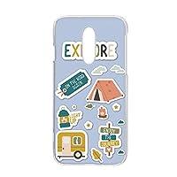スマホケース ハードケース Xperia 1 (SO-03L・SOV40・802SO) 用 [キャンプ・ブルー] アウトドア SONY ソニー エクスペリア ワン docomo au SoftBank スマホカバー 携帯ケース 携帯カバー [FFANY] camp_aao_h210174