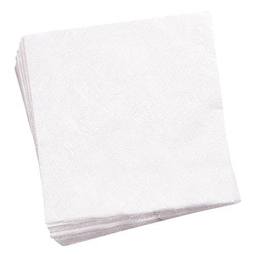 5000 Stück HUCHTEMEIER PapierServietten, 33 x 33 cm, 1-lagig, weiß, 1/4 Falz Snackservietten für Imbiss, Gastronomie, Hotel, Events.