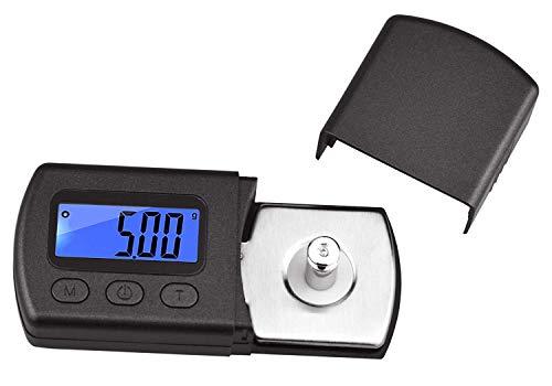 Flybiz Digitale Tonarmwaage Digital Turntable, Stylus Force Scale Gauge, Maßstab, Messgerät, Tester 0,01 g Stylus Force Messgerät blau LCD Hintergrundbeleuchtung für Tonarm, Phono Cartridge (Schwarz)