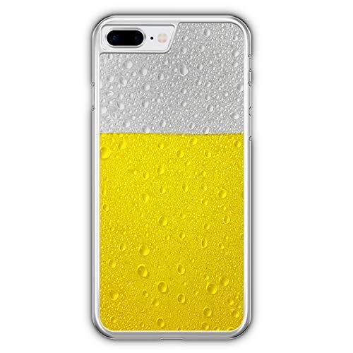 Bier Beer - Hülle für iPhone 8 Plus - Motiv Design Jungs Männer Herren Cool Lustig Witzig - Cover Hardcase Handyhülle Schutzhülle Hülle Schale