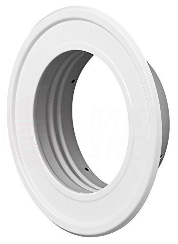Wandrosette weiß pulverbeschichtet Ø 100 mm Thermoflex ALU Flexrohr Wand Rosette Metall Flansch Abluft Zuluft Flexschlauch Lüftung Rohr Schlauch