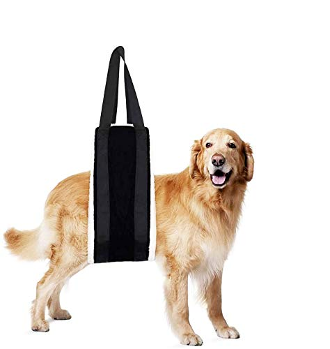 "HNYG 30-120 lbs Large Dog Sling for Rear Legs Helps Elderly Dogs with Reduced Mobility, Dog Support K9 Dog Lift Harness, Dog Lifter for Arthritis ACL Rehabilitation Rehab, 7"" x 51"""