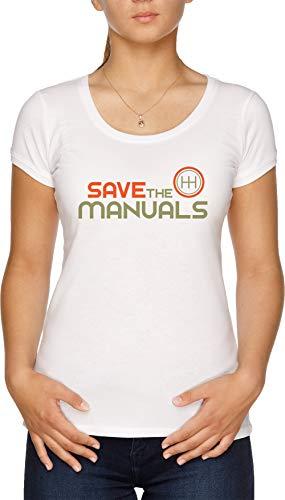 Save The Manuals Damen T-Shirt Weiß