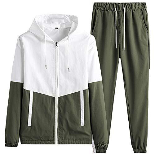 Hombres Conjunto Casual Sólido ColorPieces Primavera Verano Chaqueta+Pantalones Deportes Sudaderas Traje Ropa Para Hombre