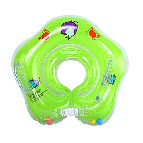 Aomerrt 2PCS Babyschwimmringe Schwimmender Schwimmkörper aus PVC mit doppeltem Sicherheitsdeck und Griff, grün