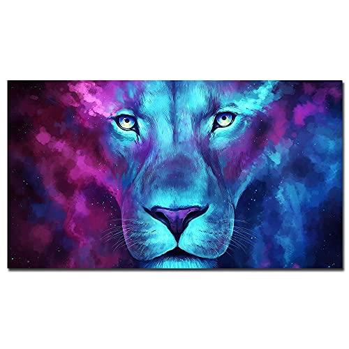 Puzzle 1000 piezas Color planeta luminoso León lienzo pintura moderna Animal imagen arte pared arte cartel sala de estar puzzle 1000 piezas paisajes Rompecabezas de juguete de50x75cm(20x30inch)