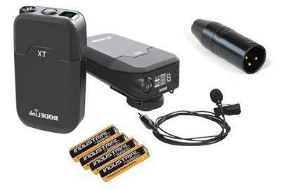 RØDELink Filmaker Radiomicrofono Pulce Rode RL-FILM KIT completo di adattatore XLR + 4 stilo alcaline - RØDELink Digital Wireless Audio System RØDE