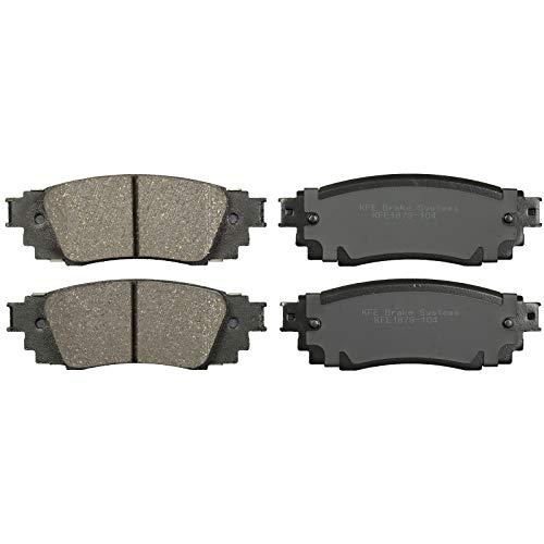 KFE KFE1879-104 Ultra Quiet Advanced Premium Ceramic Brake Pad REAR Set Compatible With: Toyota Camry E-Parking, C-HR