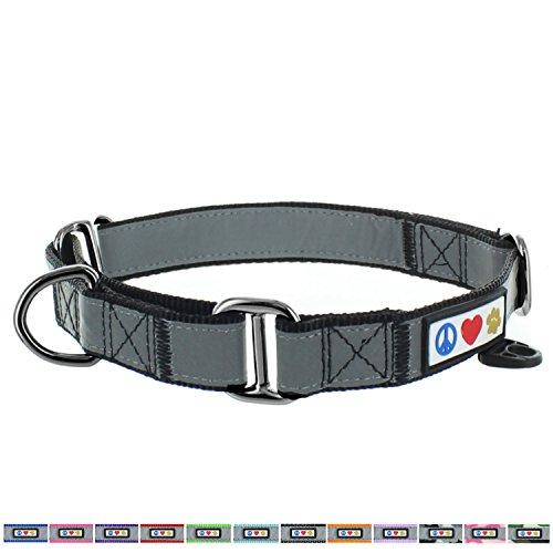 PAWTITAS Martingale Hundehalsband Welpenhalsband Reflektierendes Hundehalsband Trainingshalsband für Hunde Erziehungshalsband für Hunde Groß Hundehalsband Schwarz Hundehalsband