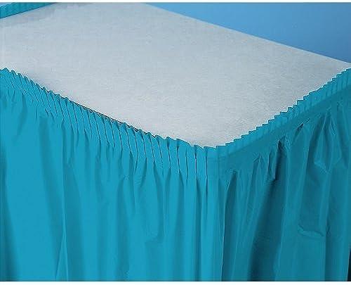 mejor oferta Turquoise Plastic Table Table Table Skirt by Shindigz  Todo en alta calidad y bajo precio.