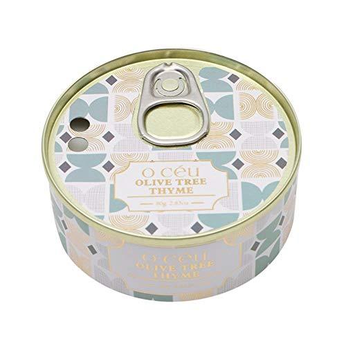 Feiyue 4,24 Unzen Dosen Duftkerze Dauerhafte Haushaltsdose Kerze Duftkerzenlicht Esstisch Souvenir, Olivenbaum Thymian