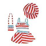 H.aetn Ropa de muñeca 4 unids/Set Juego de Vestido de Playa para muñecas de niña de 18 Pulgadas para Regalos de niña