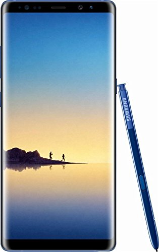 Samsung Galaxy Note 8, 64GB, Deepsea Blue - Fully Unlocked (Renewed)