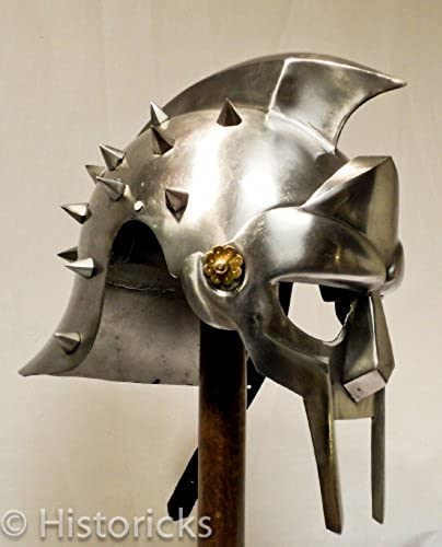 Gladiator Maximus Helmet (with liner) larp   role-play   fancy-dress   theatre by Historicks