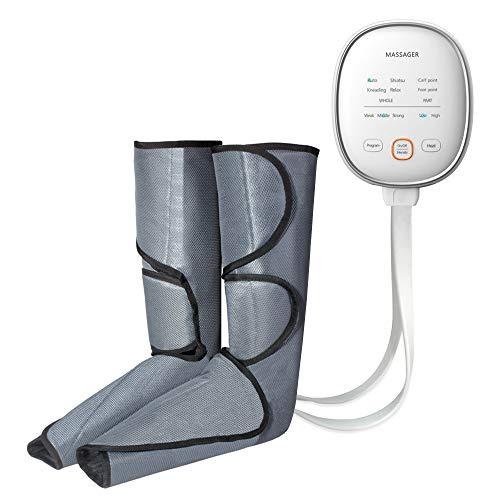 HGBKJUO Luftdruckmassage Druckwellen Beine Massagegerät, Oberschenkel Massage-Gerät für Füße Lymphdrainage Gerät Wadenmassagegerät Elektrisch mit 6 Modi 3 Intensitäten,Uk Plug