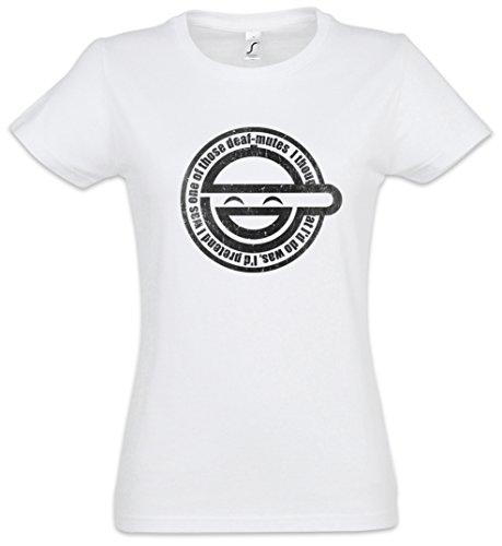 Urban Backwoods Laughing Man Women Femme T-Shirt Blanche Taille 2XL