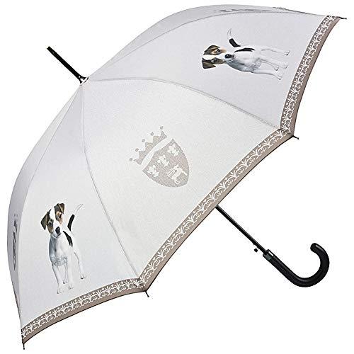 VON LILIENFELD Regenschirm Stabil Welpe Auf-Automatik Damen Herren Motiv Hund Jack Russell Terrier