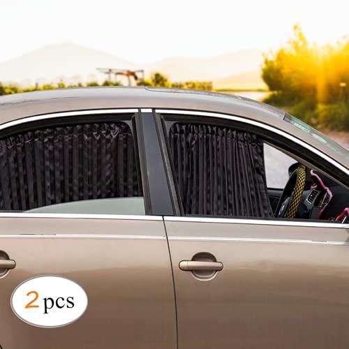 ZATOOTO Sonnenschutz fürs Auto Vorhang, Sonnenschutz Magnetisch für UV-Schutz, Hitzeschutz, 2 Stück, Schwarz