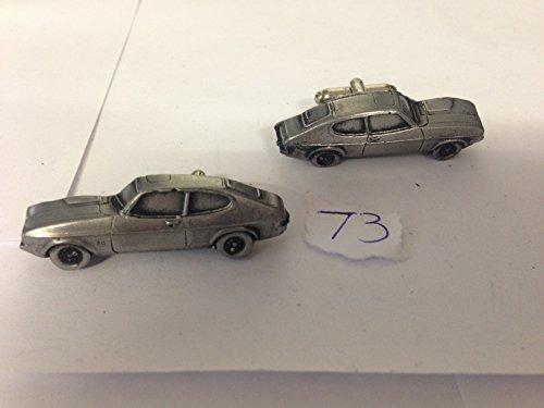 Ford Capri Mk2 3D-Boutons de manchette Homme-Classique-Bouton de manchette en étain effet ref73