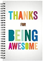 Successories 741319 Thanks for Being Awesome Spiral Notebook [並行輸入品]