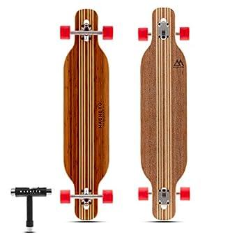 Hana Longboard Collection   Longboard Skateboards   Bamboo with Hard Maple Core   Cruising Carving Dancing   Free Skate Tool   Twin