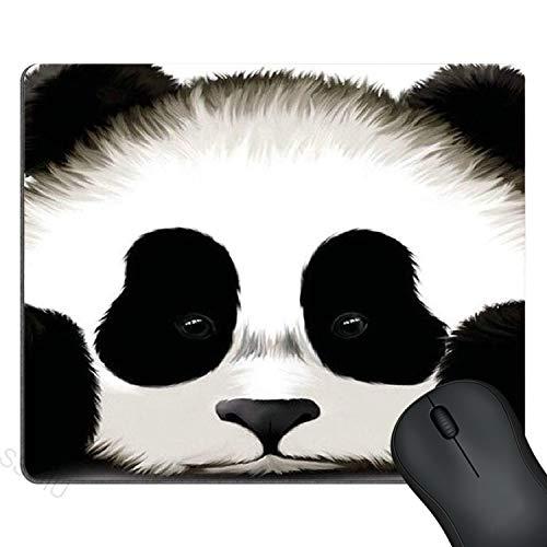 SSOIU Custom Cute Panda Gaming Mouse Pad Durable Office Accessory Rubber Mousepad Mat