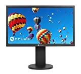 AG Neovo EH-24 24 Inch IPS 1080p Ergonomic Monitor with HDMI, DisplayPort and Speaker for Home and Office, Height Adjustable, Swivel, Pivot, Tilt, Black